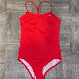 Nike red bathing suit size 16